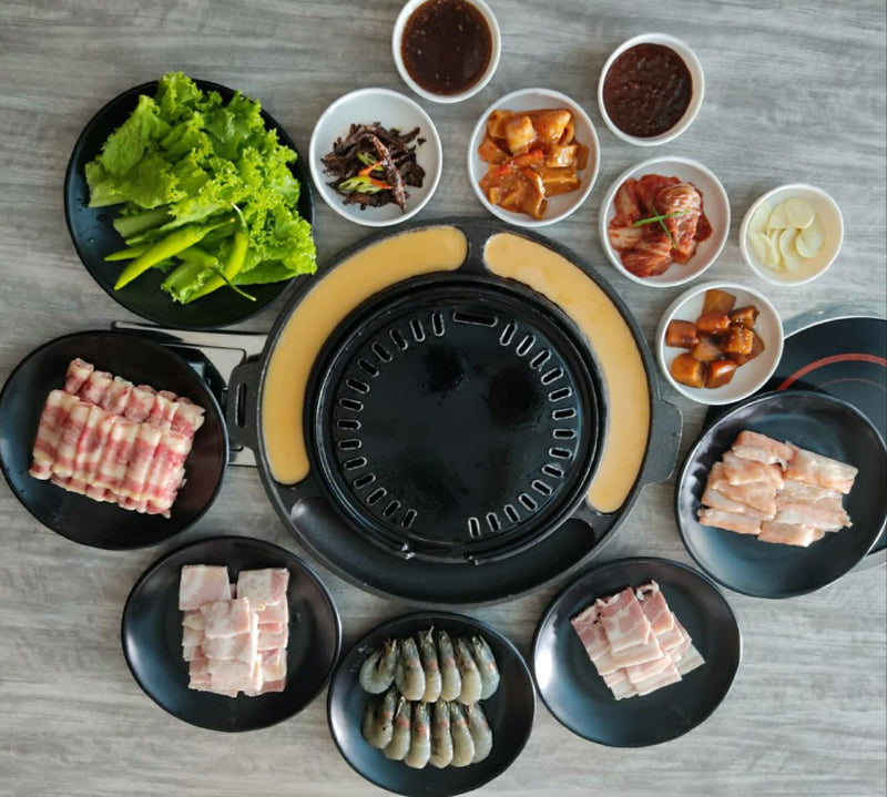 PORK, BEEF & SEAFOOD BARBEQUE SET (Good for 2-4 pax)