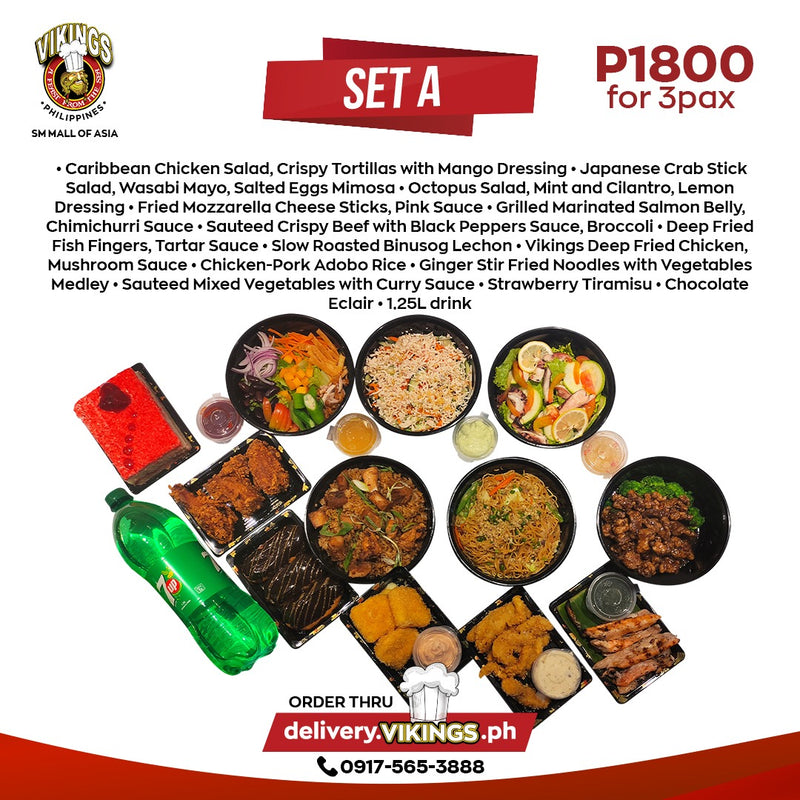 Vikings SM MOA Feast for 3 - SET A