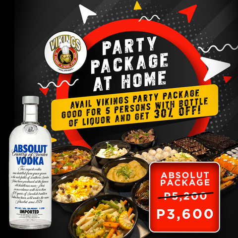 Vikings SM Megamall - Absolut Package