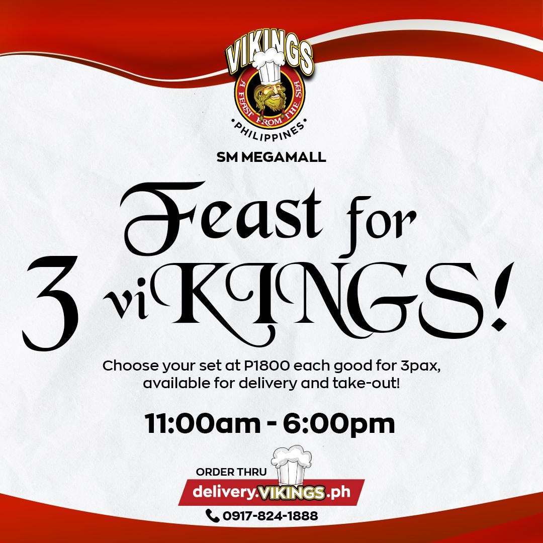 Vikings SM Megamall Feast for 3 - SET B