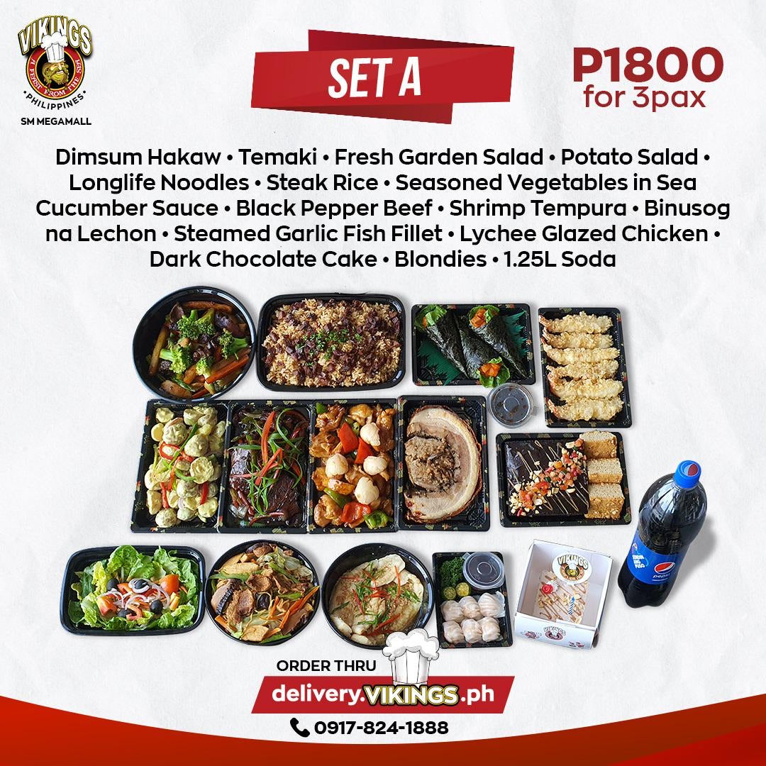 Vikings SM Megamall Feast for 3  - SET A