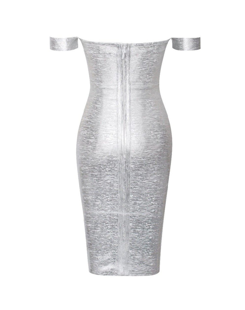 VOGA Metallic Bandage Dress - Inamore