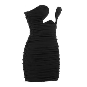 KALIA Ruched Black Dress - Inamore
