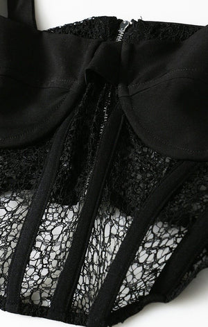 Load image into Gallery viewer, DOMINIQUE Lace Corset Top - Inamore