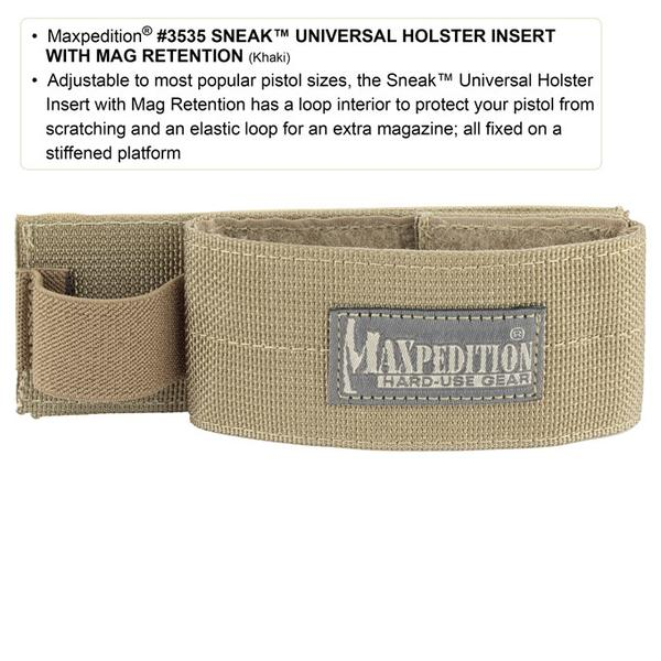 Maxpedition Sneak Universal Holster Insert With Mag Retention