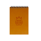 Adorable Orange Monsters A6 Spiral Notepads (Ruled)