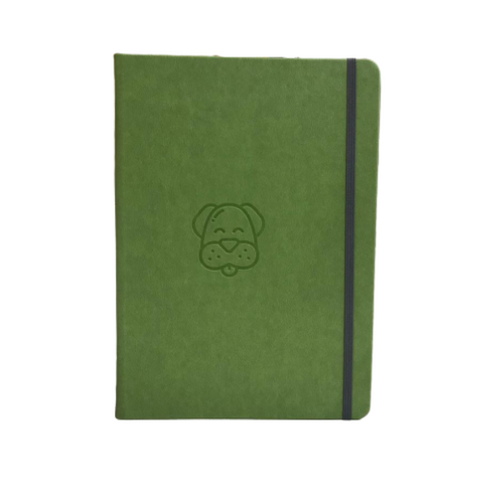 Green Dog A5 Elastic Notebooks (Ruled)