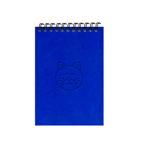 Royal Blue Cats A6 Spiral Notepads (Ruled)