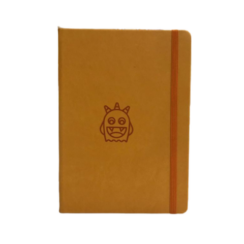 Adorable Orange Monsters A5 Elastic Notebooks (Ruled)