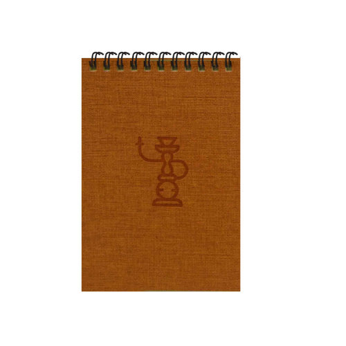 Orange Shisha A6 Spiral Notepads