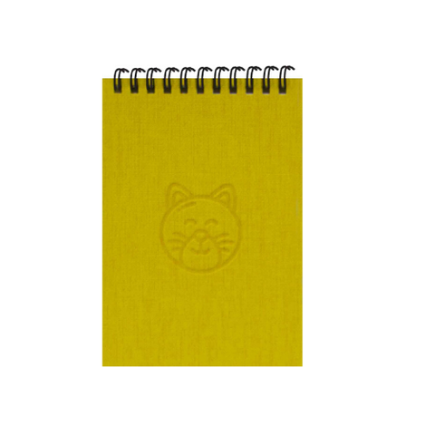 Yellow Cats A6 Spiral Notepads (Ruled)