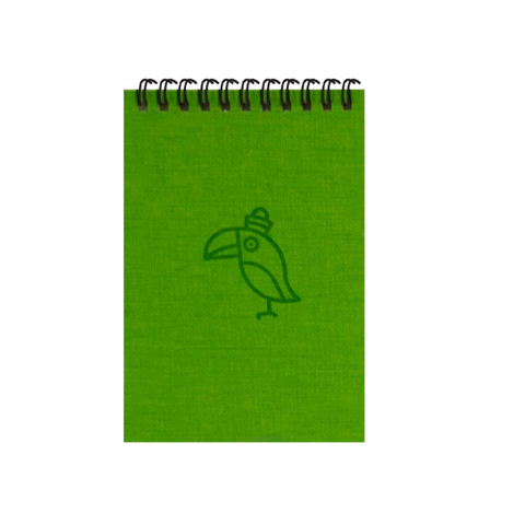 Green Parrot A6 Spiral Notepads (Ruled)