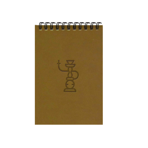 Brown Shisha A6 Spiral Notepads (Ruled)