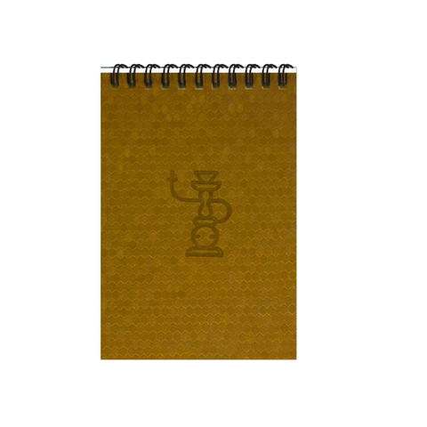 Gold Shisha A6 Spiral Notepads (Ruled)