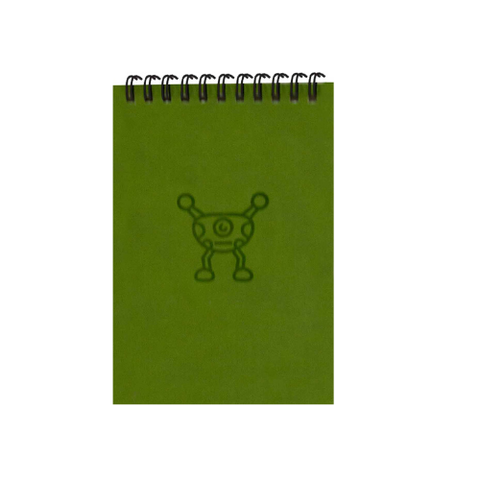 Silly Khaki Green Monsters A6 Spiral Notepads (Ruled)