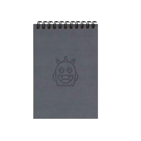 Adorable Grey Monsters A6 Spiral Notepads (Ruled)