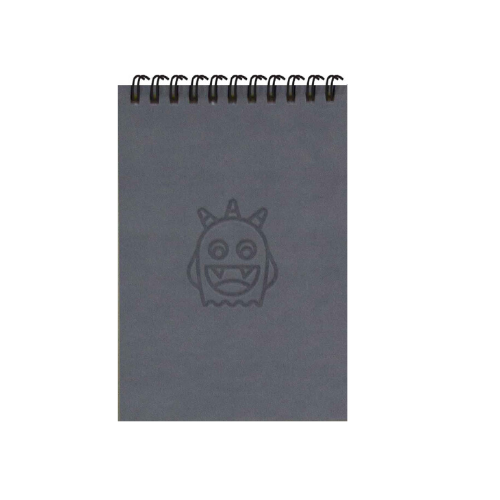 Adorable Grey Monsters A6 Spiral Notepads