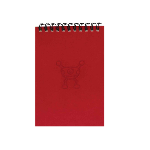 Silly Red Monsters A6 Spiral Notepads (Ruled)