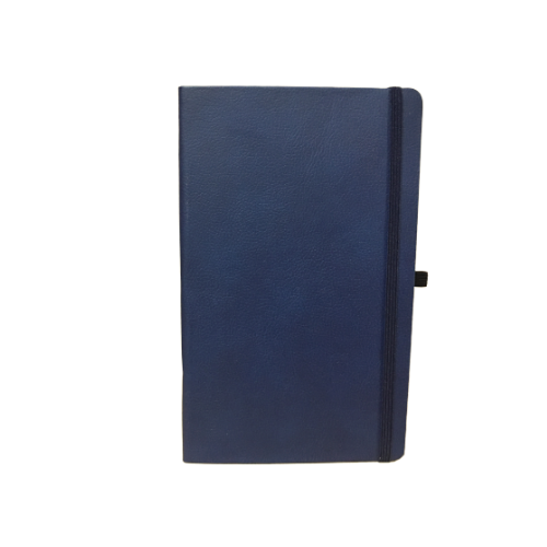 Compact Navy Blue PVC Elastic Notebooks