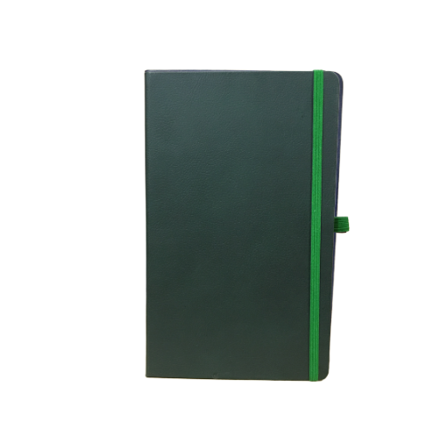 Compact Green PVC Elastic Notebooks