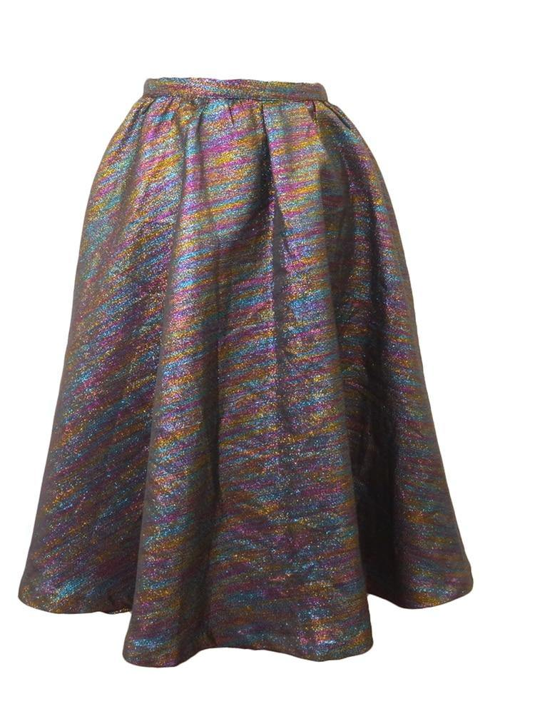 Lucca Couture Metallic Party Skirt