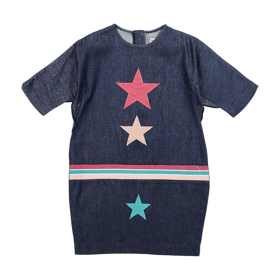Teela Denim Star Patch Dress
