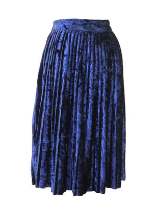 Sabra Crushed Velvet Pleat Skirt