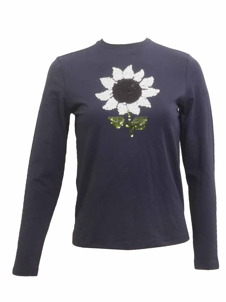 Kathie k Long Sleeve Flower T-shirt