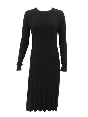Modest People Ribbed Sweater Dress
