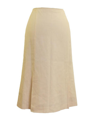 Mossaic Crepe Front Pleat A-line Skirt
