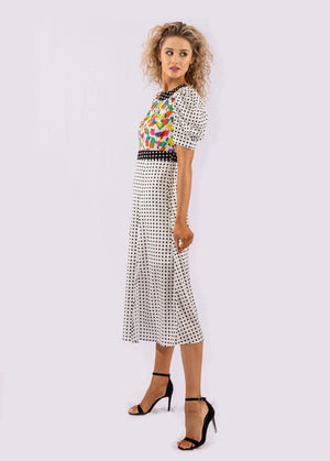 Darling Retro Print Dress