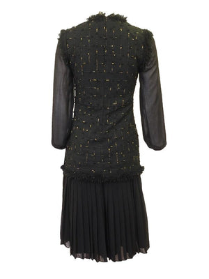 Kathie K Black & Gold Dress