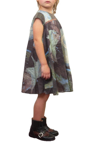 JNBY Multi Print Cap Sleeve Dress