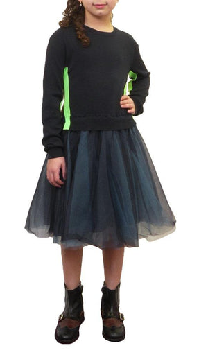 JNBY Sweater Top Tulle Bottom Dress