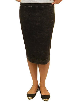 Hardtail Wide Cut Cotton Pencil Skirt W-525