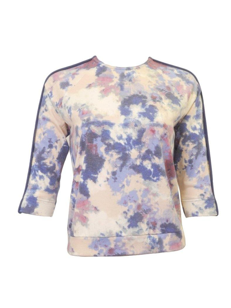 Sportchic Binded Sleeve Print Top