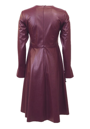 C&M Leather A-line Applique Dress