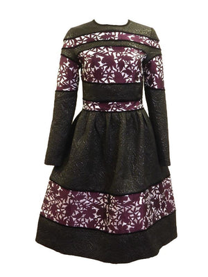 Polncare Floral Embossed Dress Front