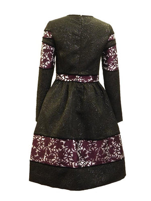Polncare Floral Embossed Dress