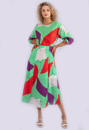 Darling Abstract Visage Dress