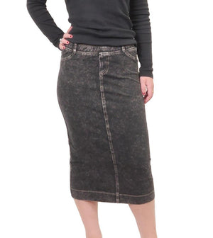 Hardtail Midi Denim Pencil Skirt MWJ-105
