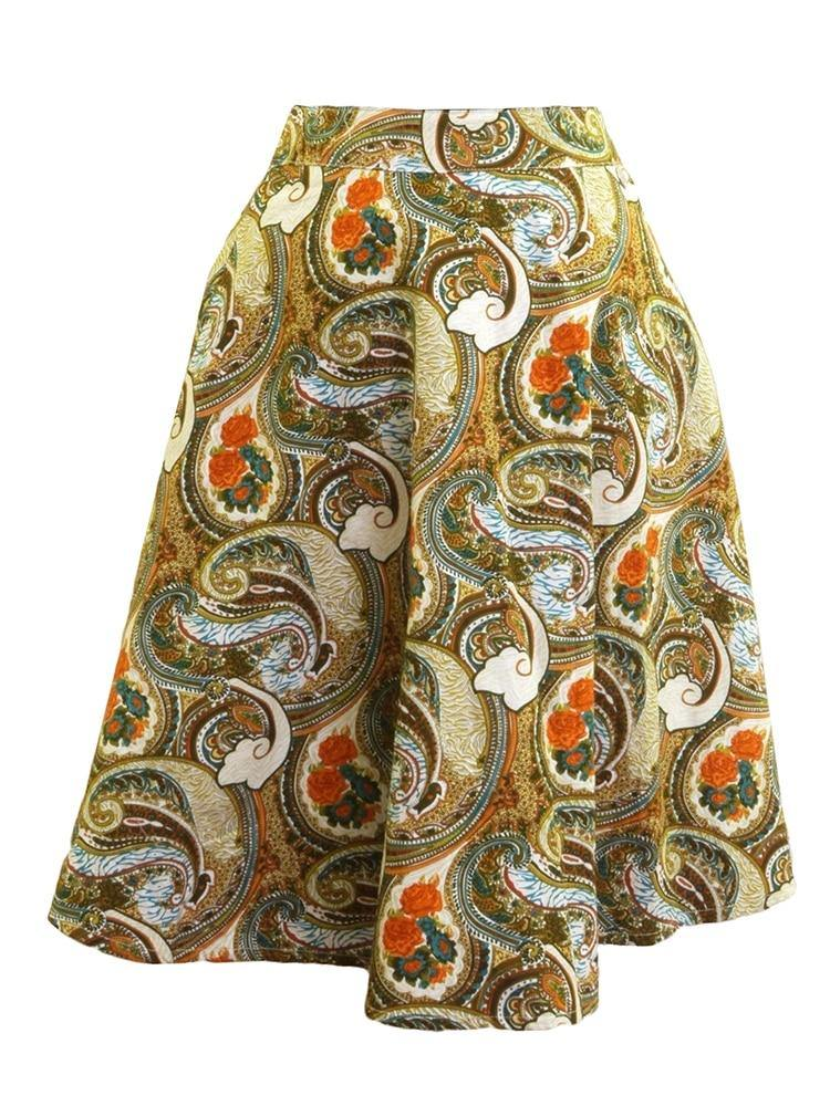 Miss Donna Junior Paisley Floral Skirt