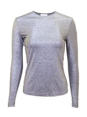 Linda Leal Long Sleeve Sparkle Shell