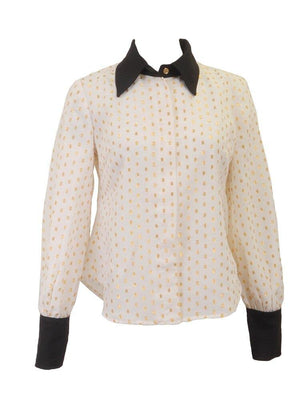 Carrie Ivory and Gold Blouse