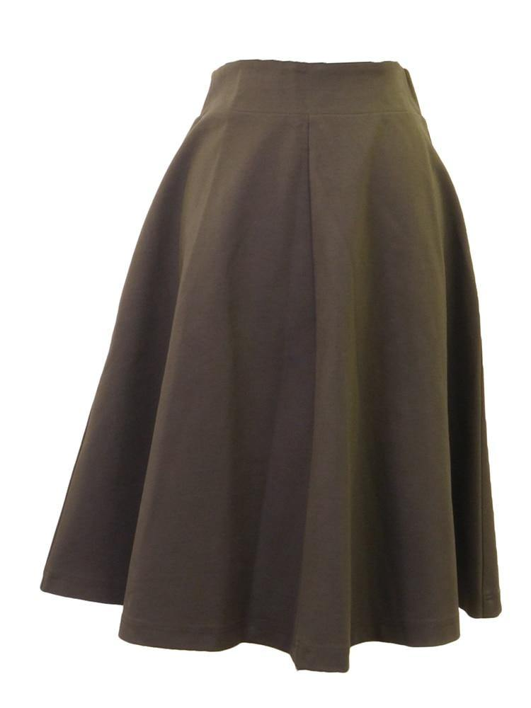 Tawny Birch Ponte Aline Skirt
