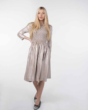 Note Sparkle Smock Dress
