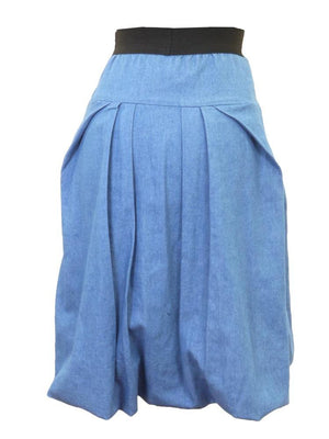 Freckle Juice Light Denim Bubble Skirt