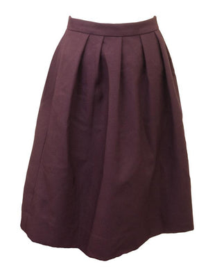 Jeanyes Crepe Pleated Skirt
