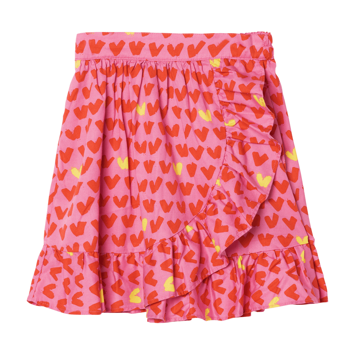 Stella McCartney Hearts Twill Skirt Front