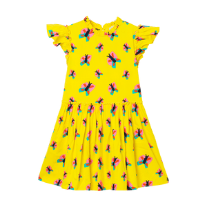 Stella McCartney Kids Yellow Butterflies Dress